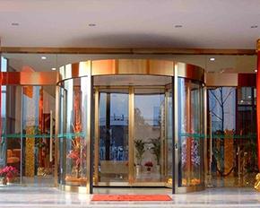 酒店自动旋转门
